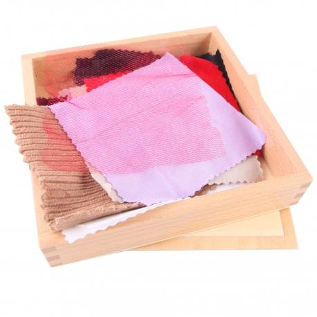 Boîte de tissus couleurs