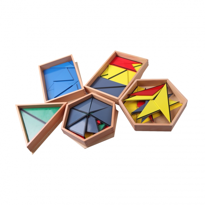 triangles constructeurs 5 boites
