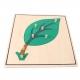 puzzle feuille en bois haut de gamme