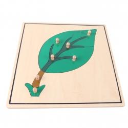 puzzle feuille en bois nouveau