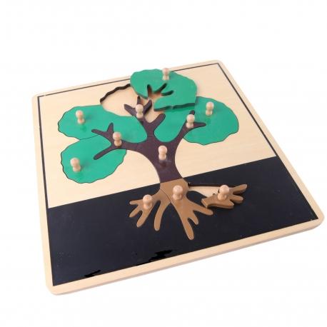 Puzzle arbre en bois haut de gamme