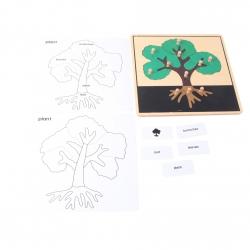 puzzle arbre en bois nouveau