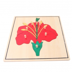 puzzle fleur en bois nouveau