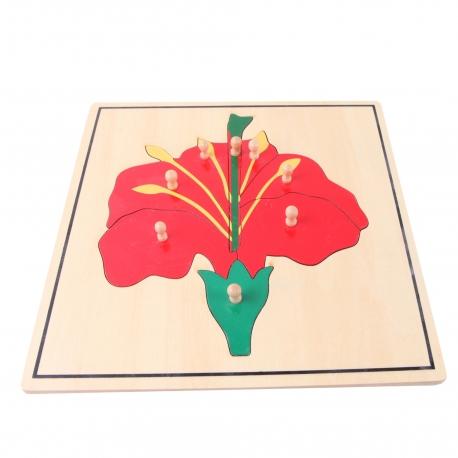 Puzzle fleur en bois haut de gamme