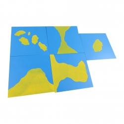cartes avec formes des pays